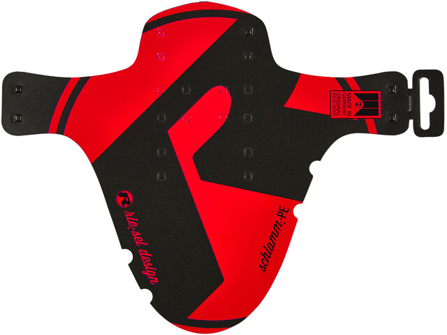 "rie:sel design schlamm:PE Front Mudguard 26-29"" red"